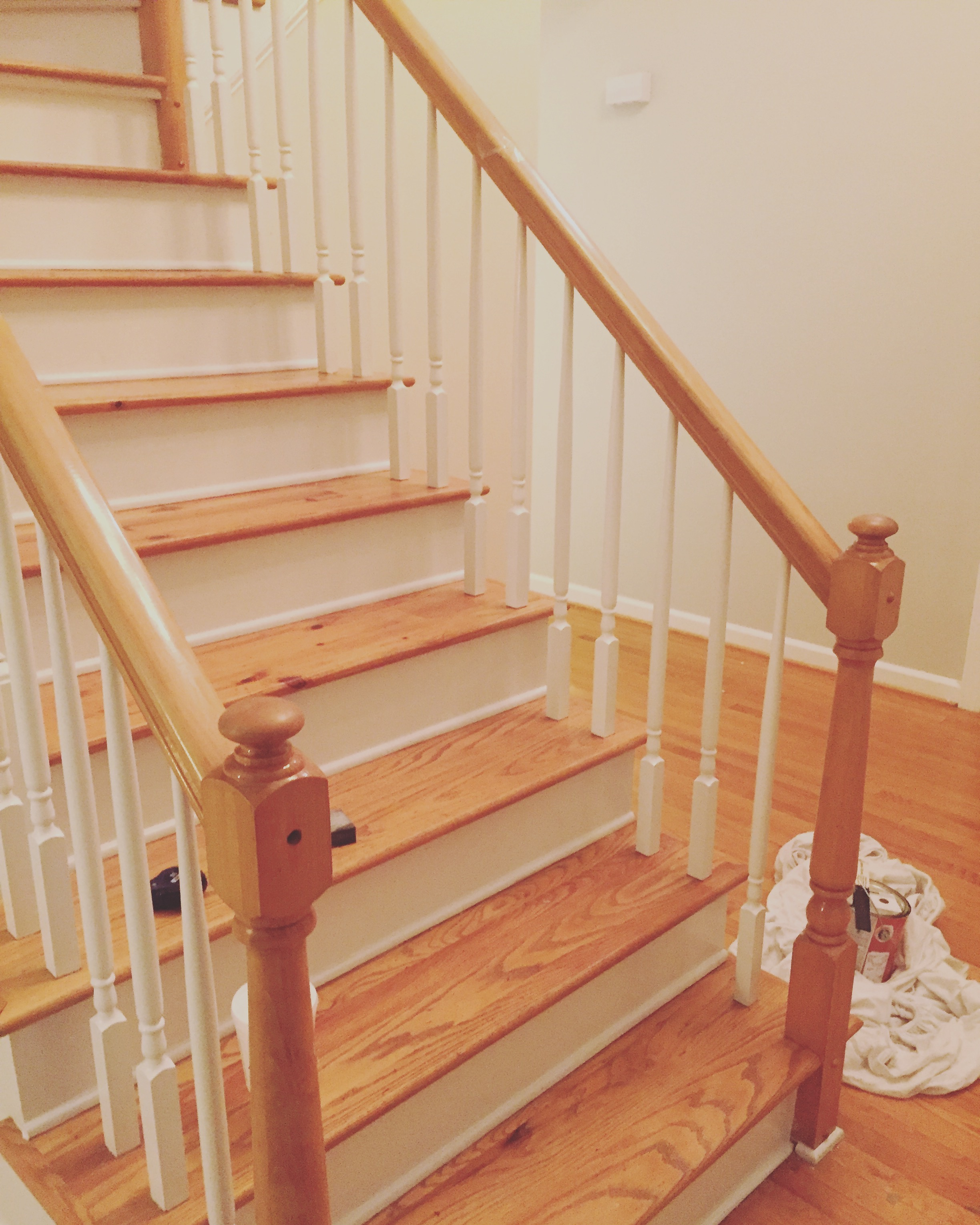 Painting Our Banister Black