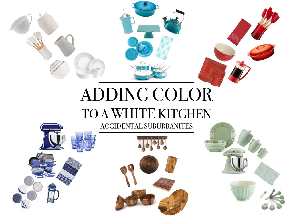 how to add color to a white kitchen adding color to a white kitchen suburbanites 9684
