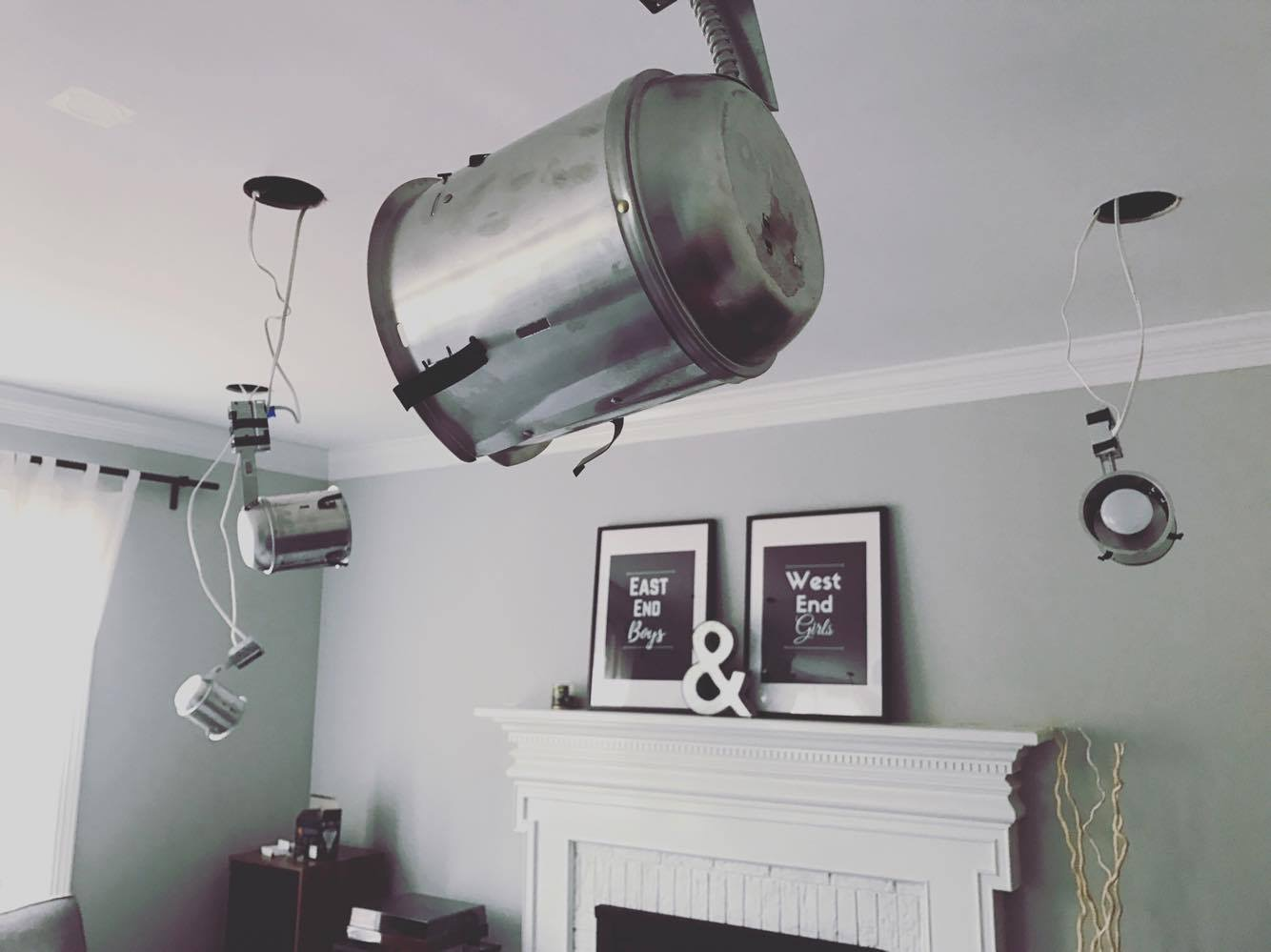 Replacing a Ceiling Fan with DIY Recessed Lights | Accidental ...