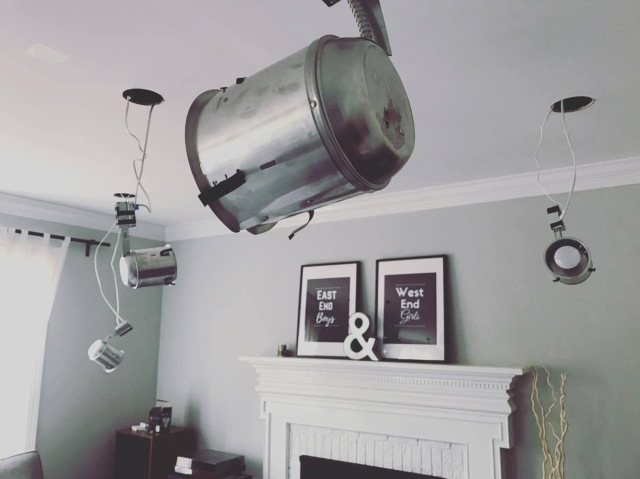 Replacing A Ceiling Fan With Diy Recessed Lights Accidental Suburbanites
