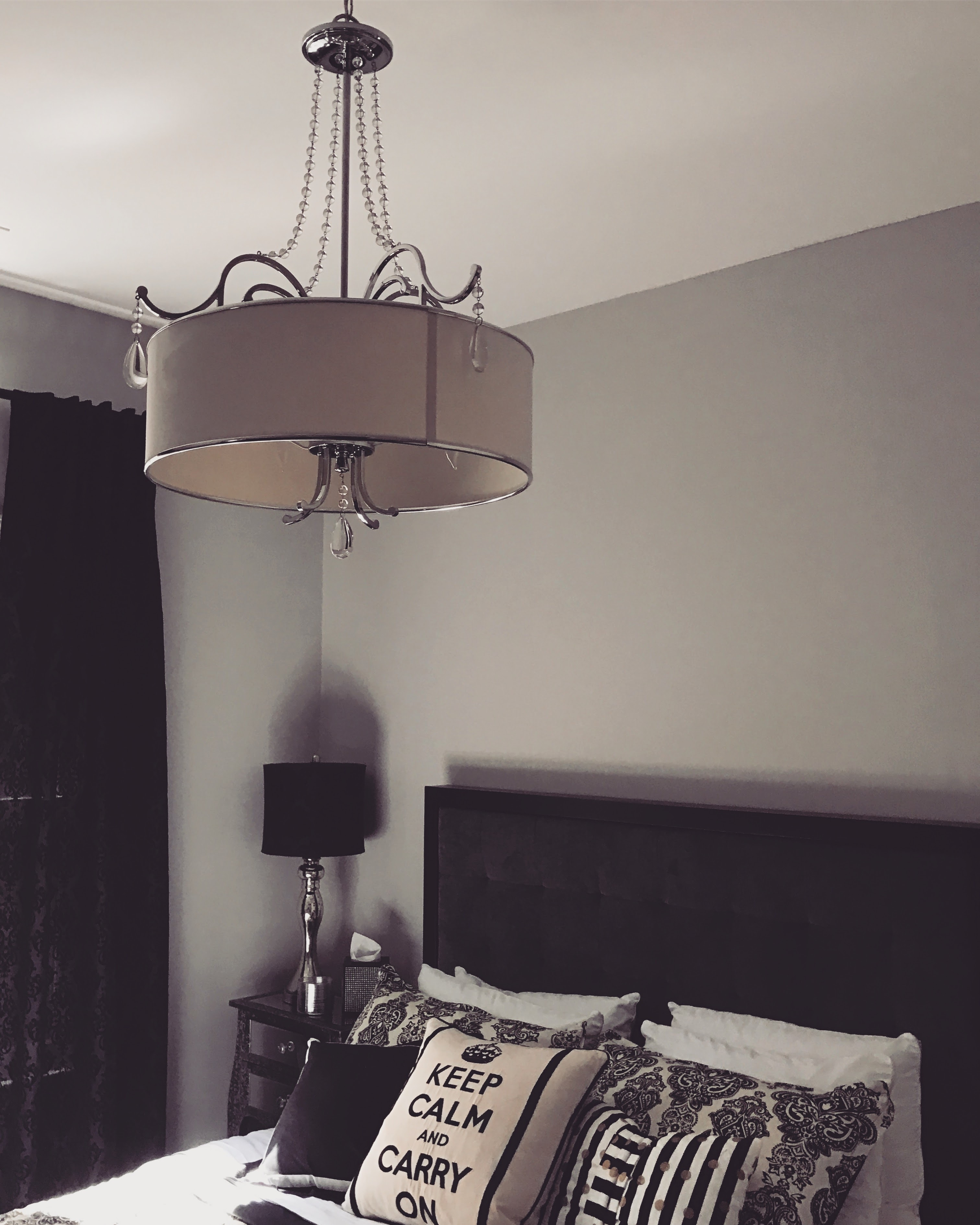I Snagged This Crystal Drum Chandelier A Few Years Back At (of All Places!)  Costco. Iu0027m Thinking About Painting The Shade Blacku2026 What Do You Think?