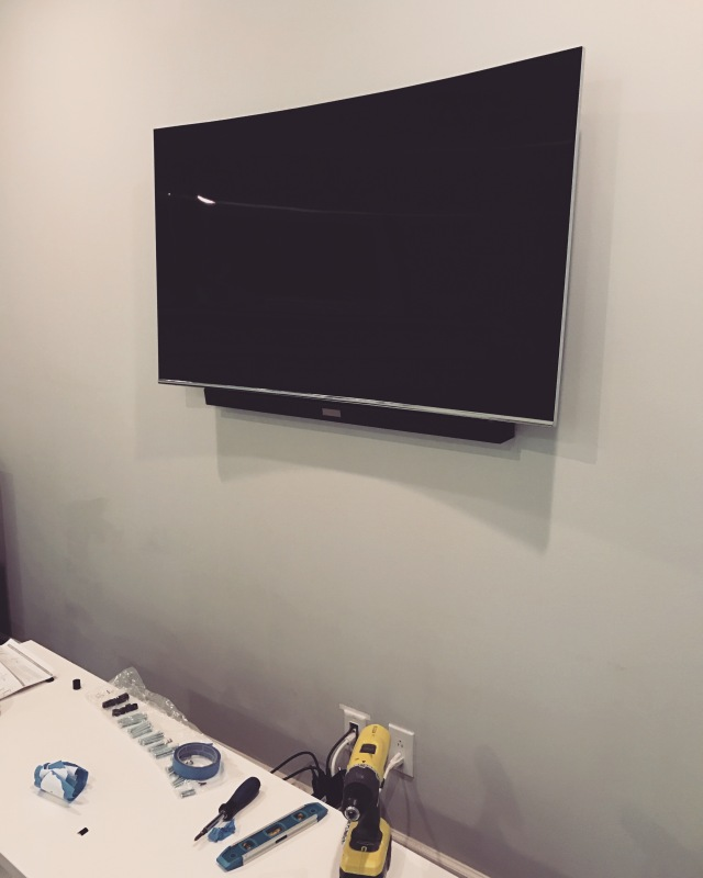 Hiding the Wires Behind a Wall Mounted TV & Soundbar | Accidental ...