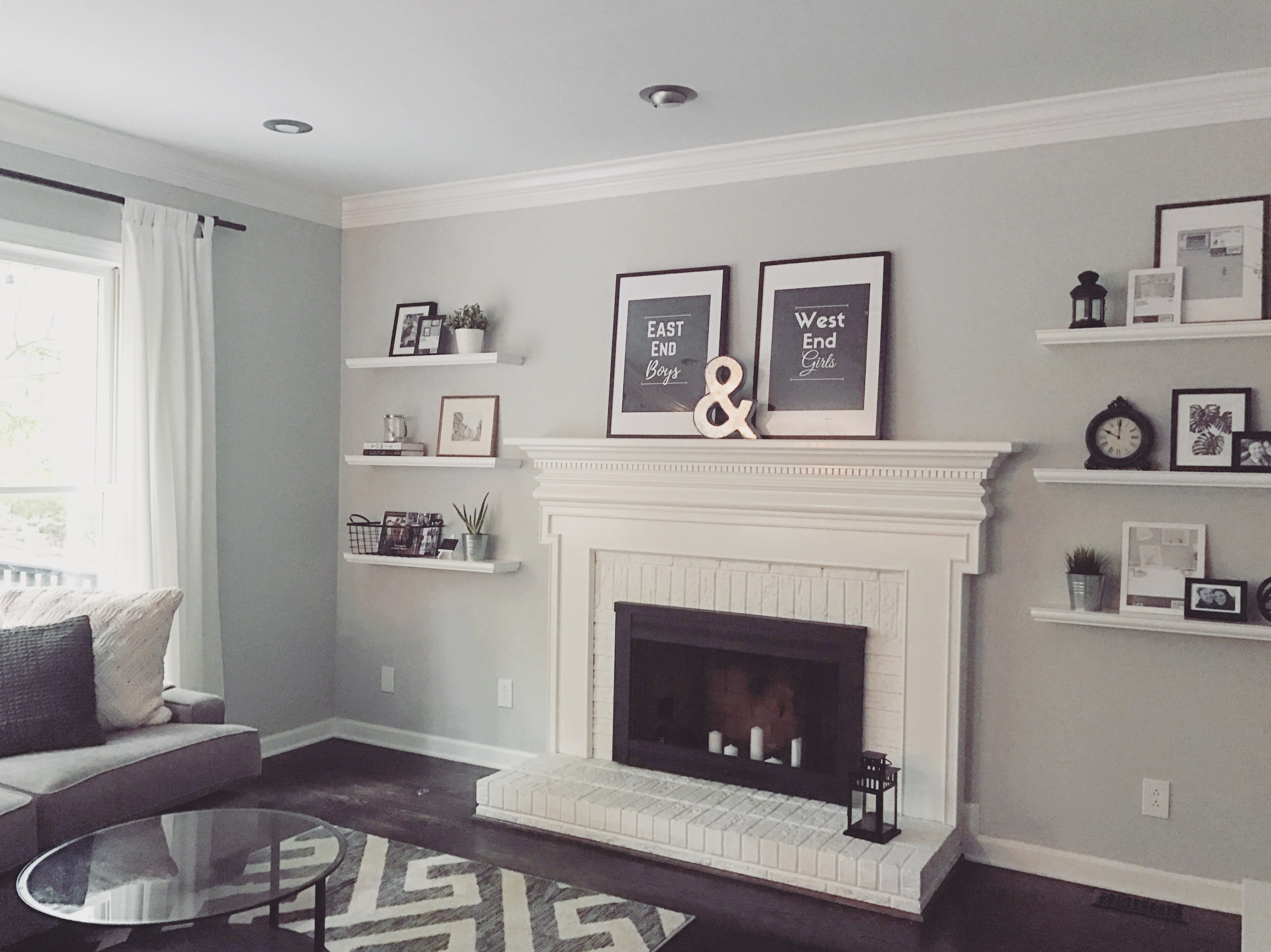 Super Adding Floating Shelves By The Fireplace Accidental Home Remodeling Inspirations Genioncuboardxyz